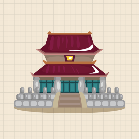 chinese traditional house: Chinese building theme elements