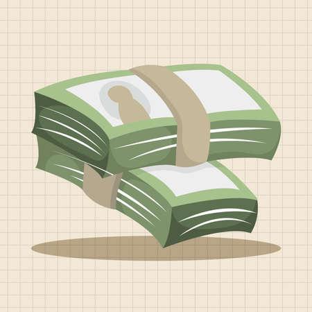 cash money: Financial money cash theme elements
