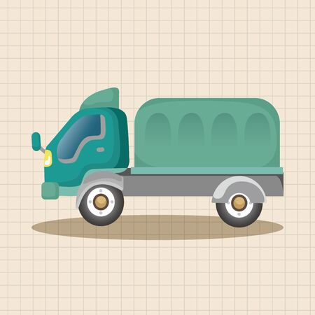 automotive industry: truck theme elements