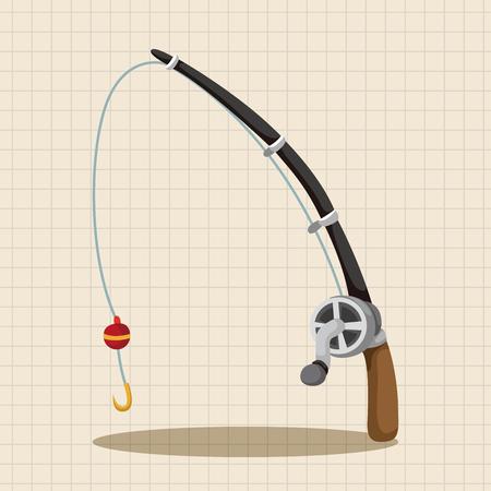 rods: Fishing rods theme elements Illustration