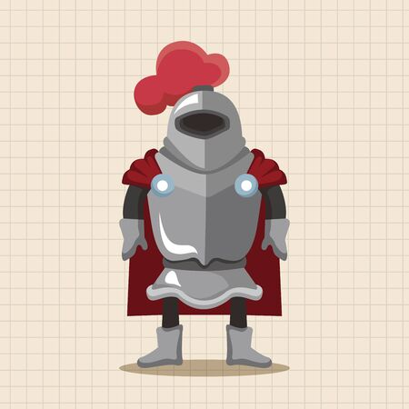 cartoon warrior: knight theme elements