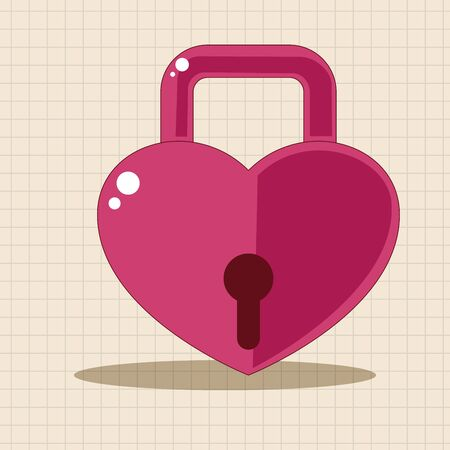 lover: lover lock theme elements