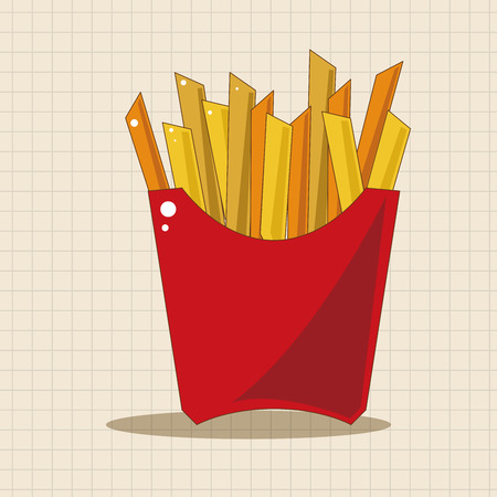 fried: Fried foods theme french fries elements