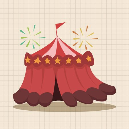 cirque: circus theme tent elements Illustration