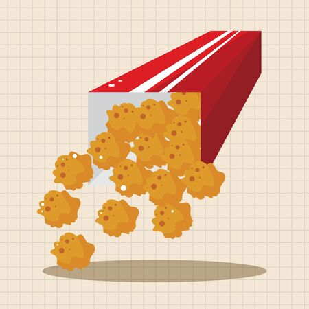 nuggets: Fried foods theme chicken nuggets elements
