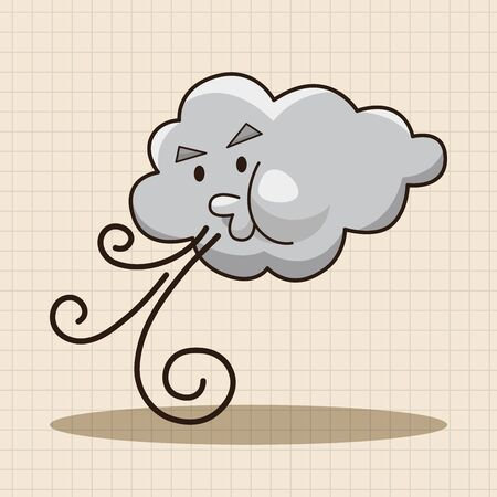 cloudy day: weather cloudy day theme elements Illustration