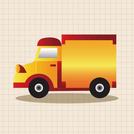 automotive industry: truck theme elements vector,eps