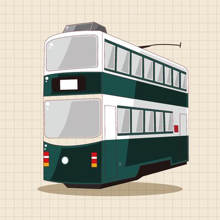 bus station: transportation train theme elements