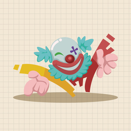 circus theme clown elements Illustration