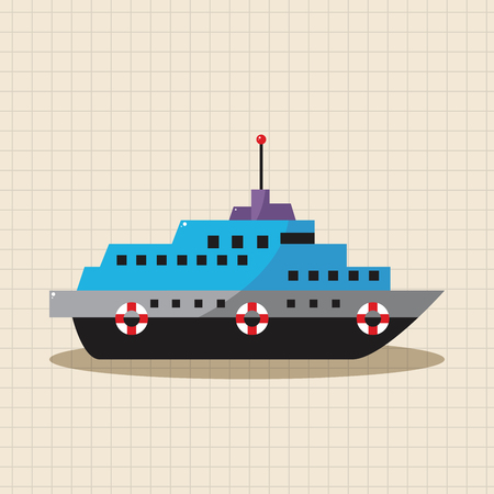 fishing boats: Transportation boat theme elements vector,eps