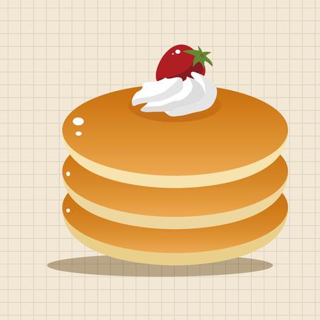 maple syrup: pancake theme elements