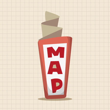 old world: Travel equipment map theme elements