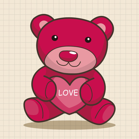 teddy bear love: present bear theme elements