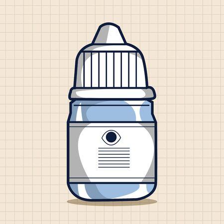 eyedropper: Eye drops theme elements