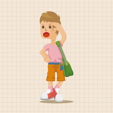 theme: boy character theme elements