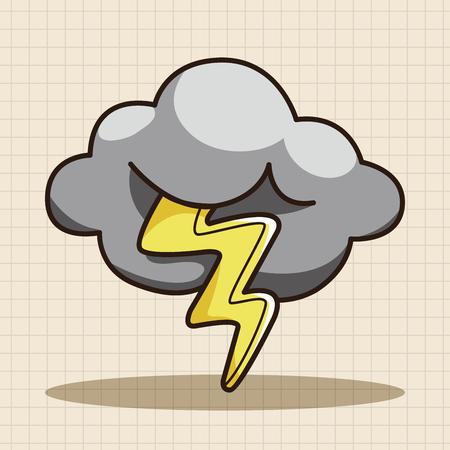 cartoon cloud: weather rainy day theme elements Illustration