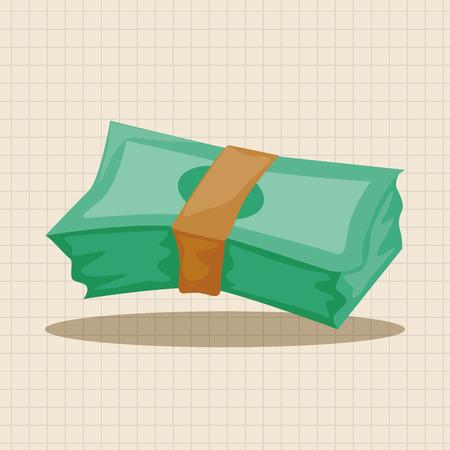cash in hand: casino cash theme elements Illustration