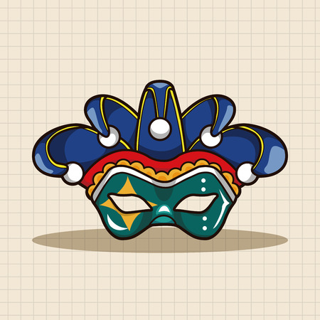 venetian mask: party mask theme elements Illustration