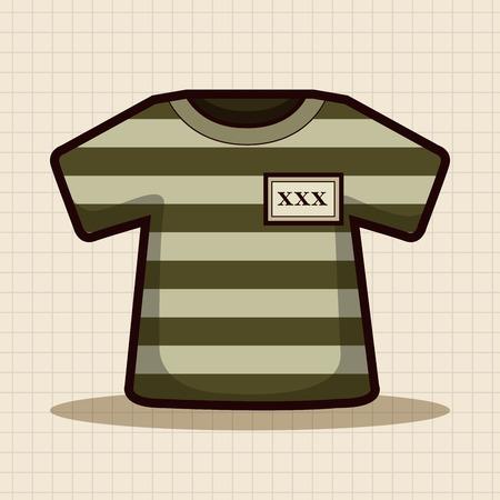 detention: prison garb theme elements Illustration