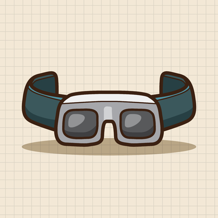 goggle: Laboratory goggle  theme elements