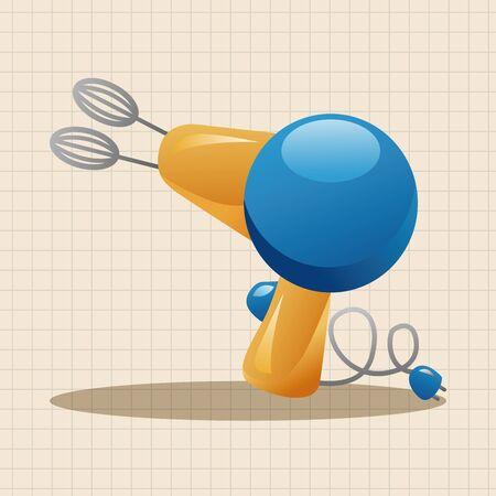 beater: Elementos del tema batidor de cocina Vectores
