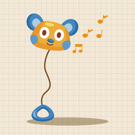 rattle: baby toy rattle theme elements
