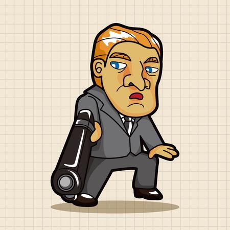 Elementos del tema de la mafia Ilustración de vector