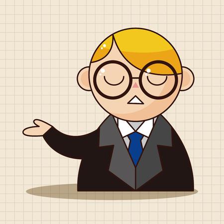 barrister: prosecutor theme elements Illustration