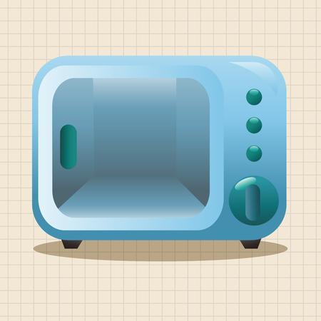 appliances: Home appliances theme microwave elements Illustration