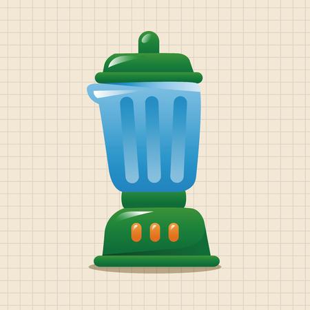 liquidizer: kitchenware juicer theme elements Illustration