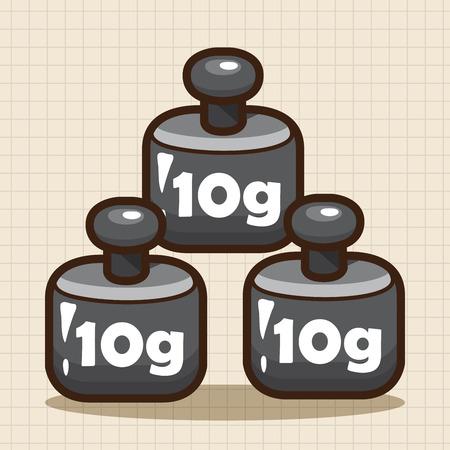 grams: Laboratory balance weights theme elements
