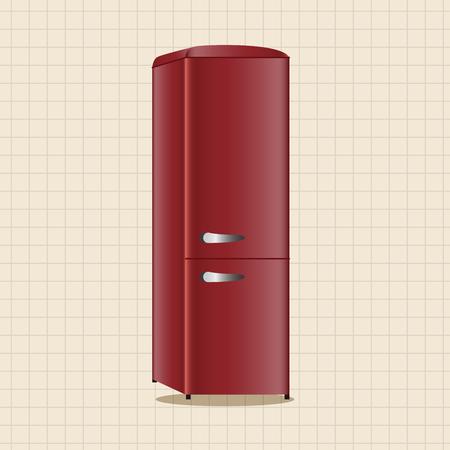 appliances: Home appliances theme refrigerator elements Illustration