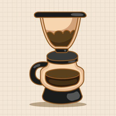 coffee machine: coffee machine theme elements