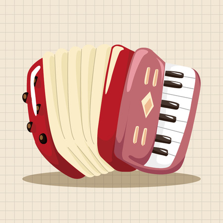 Instrument Akkordeon Cartoon Thema Elemente