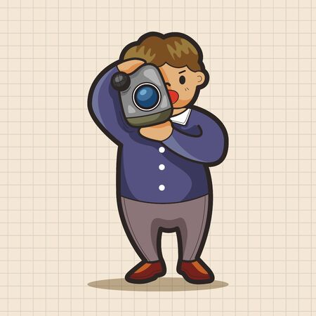 reporter: Reporter and photographer theme elements vector,eps Illustration