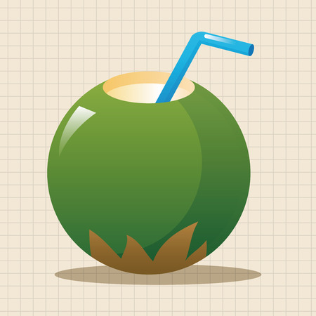 coconut drink: coconut drink theme elements