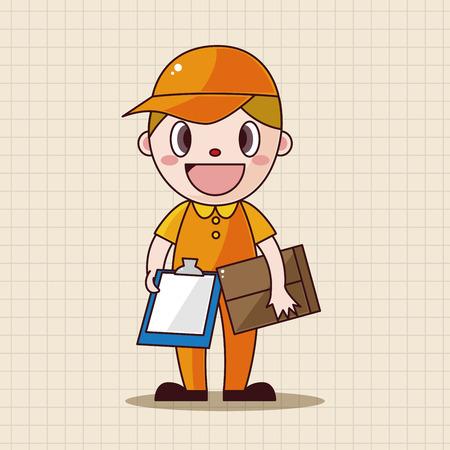 deliveryman: deliveryman theme elements vector,eps