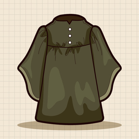 black wigs: judge gowns theme elements