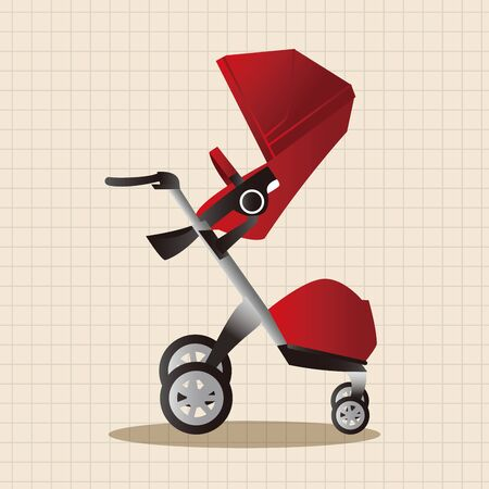 carriages: Baby carriages theme elements Illustration