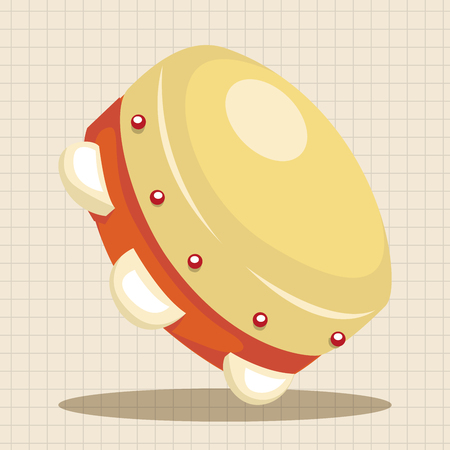pandero: instrumento elementos tem�ticos de dibujos animados pandereta