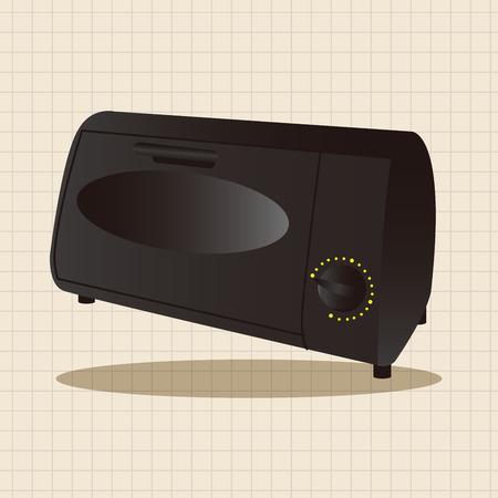 appliances: Home appliances theme oven elements Illustration