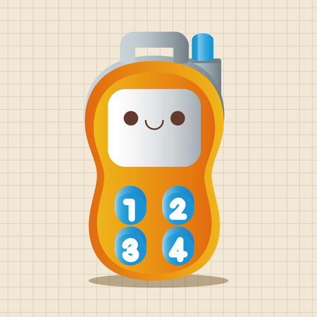 walkie: baby toy walkie theme elements Illustration