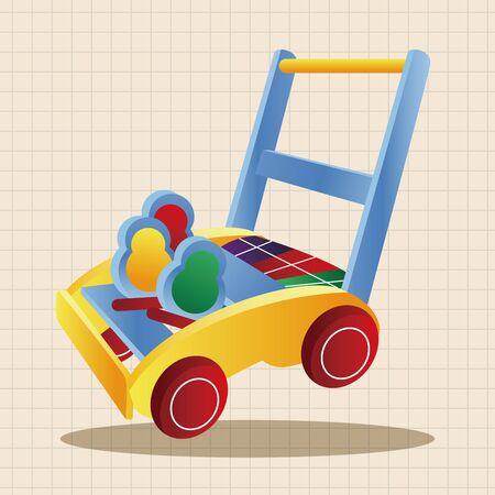 babyhood: Baby walker theme elements