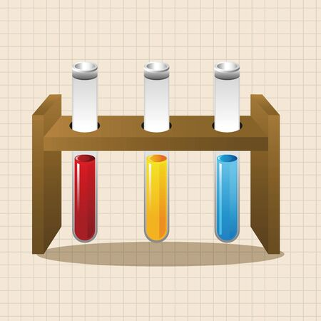 test tubes: Test tubes and beakers theme elements Illustration