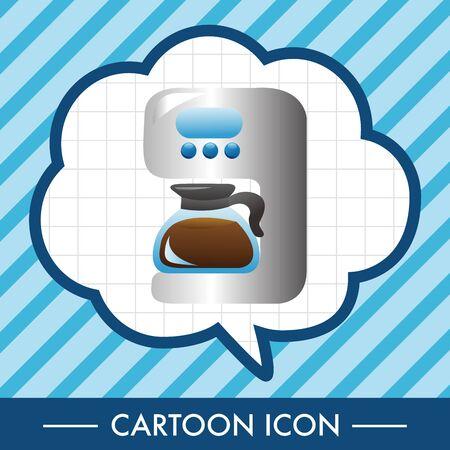 家電テーマ コーヒー機械要素