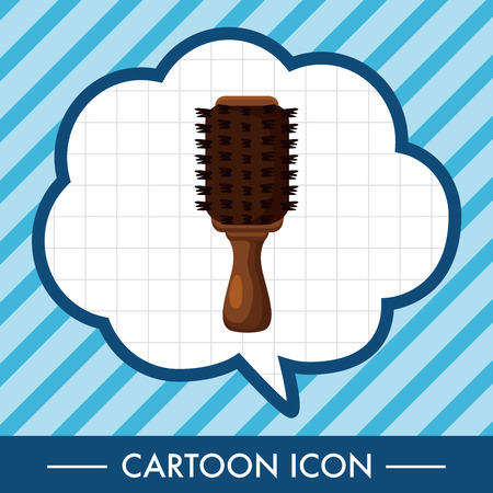 comb hair: hair products theme comb elements