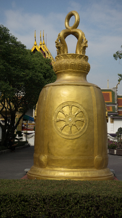 Big Golden Bell in Temple