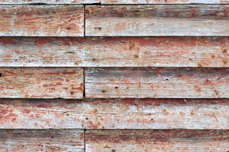 discolored: old boards with discolored paint