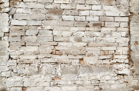 cream color: old crumbling brick wall cream color