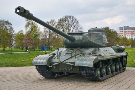 soviet: Soviet heavy tank is-2 - memorial Buynicheskoe field Editorial